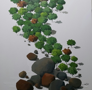Tree and stone  Arman Yaghoubpour