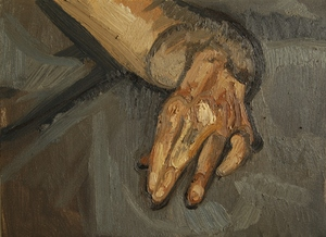 Untitled study on a hand  hossein shirahmadi