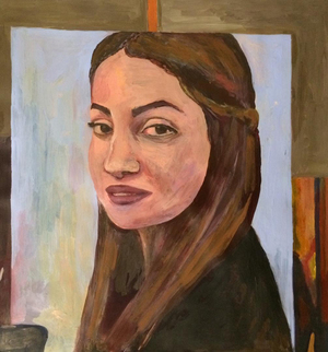 Identity self portrait  Banafsheh Ahmadzadeh