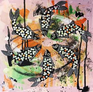 حوض ماهی (سه) از عسل مرزبان