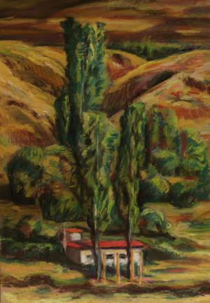 A study of a landscape in Khiavchai A4  ghader Mansoori