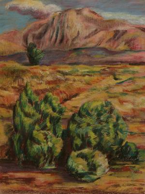 A study of a landscape in Khiavchai2   ghader Mansoori