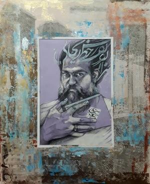 """هزار نقش نگارد ز خط ریحانی، حافظ، از مجموعه ی """"دیوان من"""" از می سم نژادرسولی"""