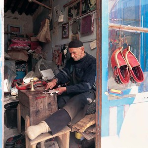 Masoleh old man shoemaker  Saeid  Mahmoudi Aznaveh