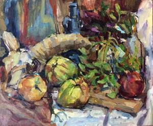 nmountain goat and the fruits  Yasaman Servatian