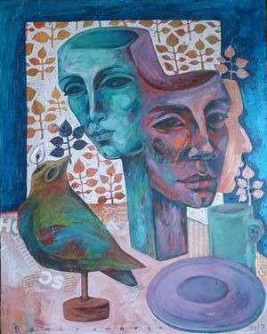 Woman and Bird of Peace2  Samira Darya