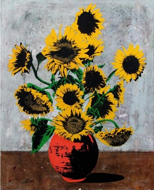 Vangong Inspiration Sunflowers  daryoush Gharahzad
