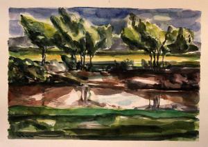 "A Landscape in ""Atal""A 2  ghader Mansoori"