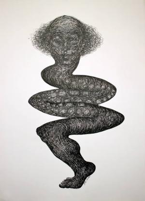 Human with reptile body  naji ariafar