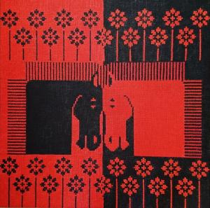 Red and black  Parvin  Fattahizadeh