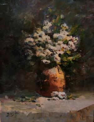 white flower  dariush zahedi