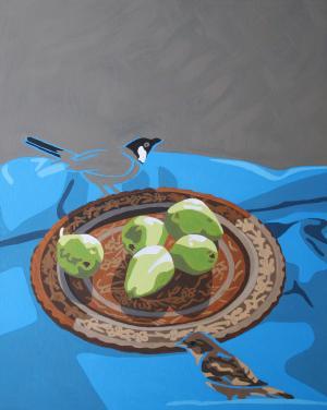 bullbull and pear  katayoun tehrani