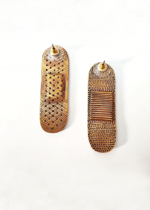 Bandaid earrings  mahrooz beladi