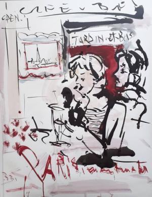 Parisian cafes  bahman brojeni