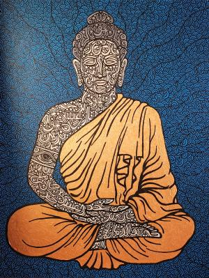 golden buddha  farshad alekhamis