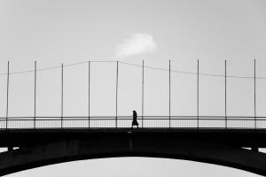A woman on the bridge  Meysam Khaledian