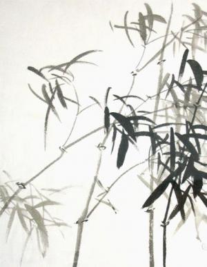 Bamboo - Chinese painting  Ghazaleh Akhavan Zanjani