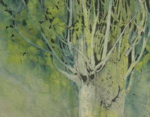 Poplar tree - Chinese Painting  Ghazaleh Akhavan Zanjani
