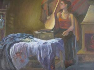 The girl with instrument  tarane sadeghian-broojeni