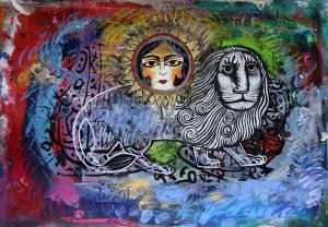 lion and sun 2 one 2 one  Shamsedin Ghazi