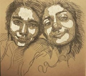self portrait 5  Shohre Afzali fard