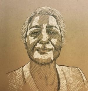 self portrait 3  Shohre Afzali fard