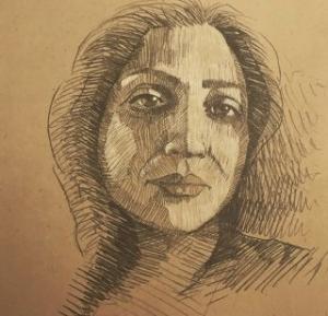 self portrait 9  Shohre Afzali fard