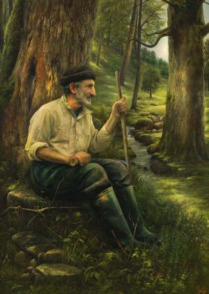 پیرمرد و جنگل از فخرالدین  مخبری