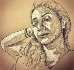 self portrait 6  Shohre Afzali fard