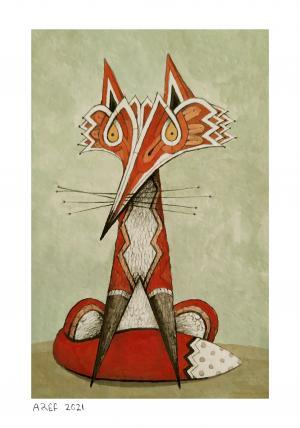 The fox in Taq Bostan  Aref Niazi