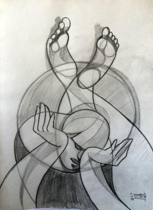 sketch number 18  mehdi khajooei