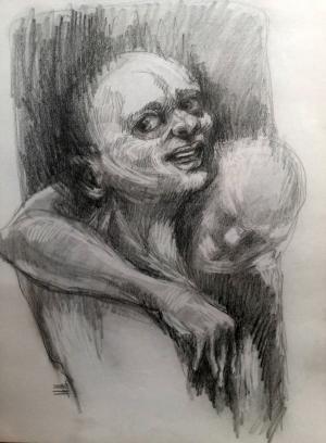 sketch number 19  mehdi khajooei