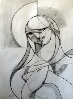 sketch number 11  mehdi khajooei